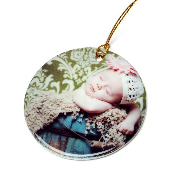 Circle Ceramic Ornament