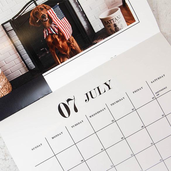 Saddle-Stitched Calendar