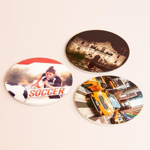 Round Photo Magnets