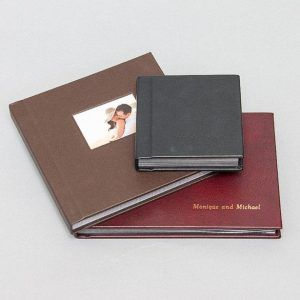 Flushmount Albums | Euro Black, Brown, and Wine.