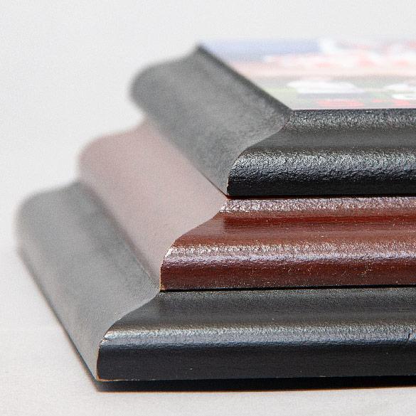 Sublimation Plaques | Black & Cherry Wood Colors