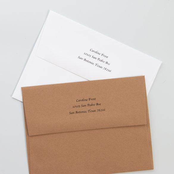 Return Address Envelopes