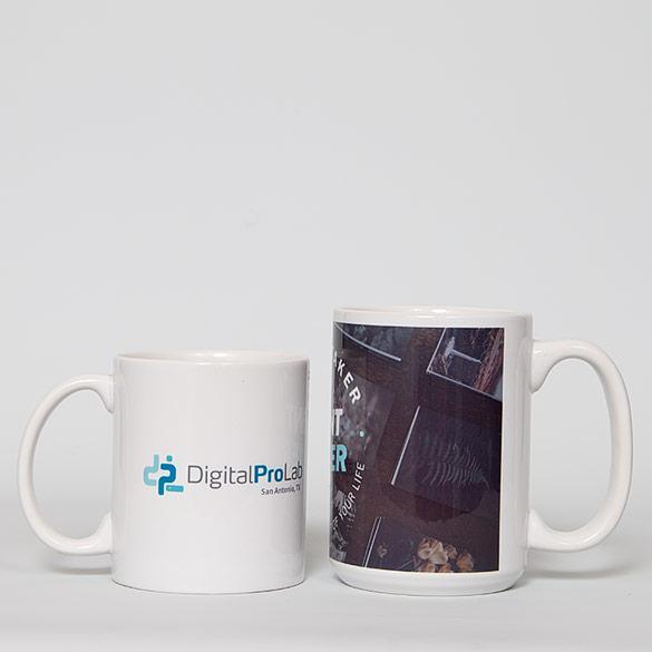 11oz. ceramic mug (left) | 15oz ceramic mug (right)