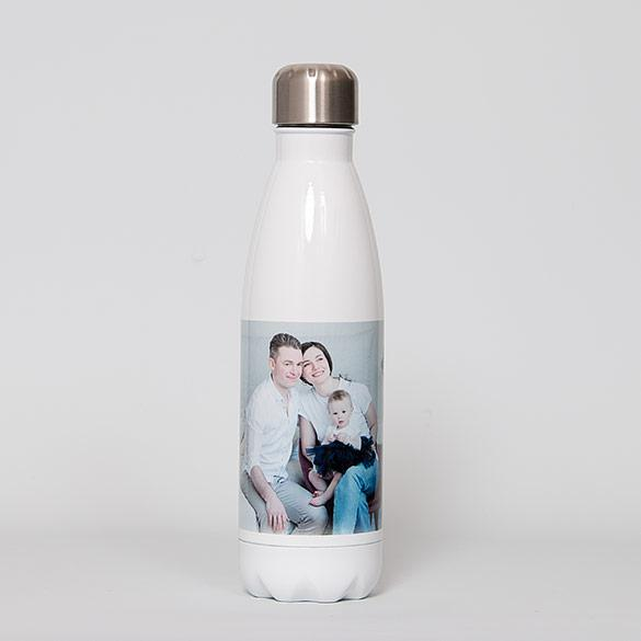 Tapered White Water Bottle