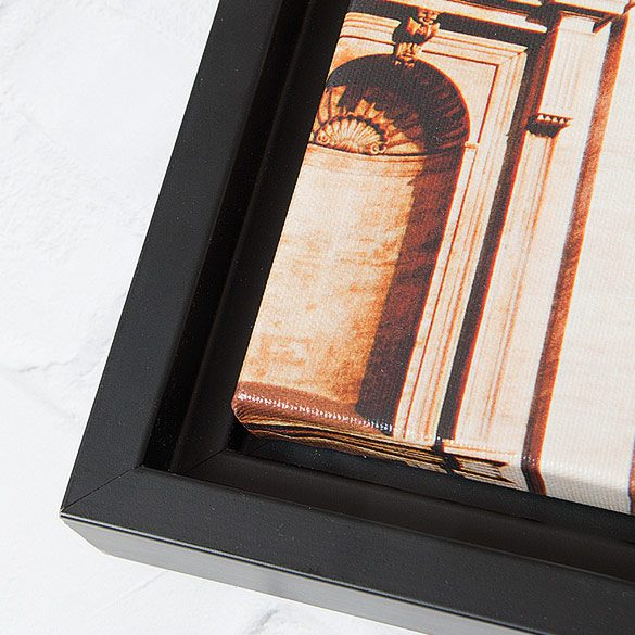 Floating Framed Gallery Wrap Closeup