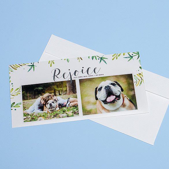 Photographic Greeting Card (4x8) with Plain White Envelope (included)